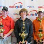 USSSA Golf Boys 12-14: L-R: Joel Boyett, Calhoun; Zac Ciesla, Lake Charles; Cameron Little, Baton Rouge.