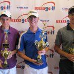 USSSA Golf Boys 15-18: L-R: Steven Benoit, Marrero; , Zachary Ginn, Denham Springs; Skye Mejia, Lafayette.