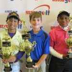 USSSA Golf Boys 9-11: L-R: Ryan Lam, Baton Rouge; Matthew Weber, Scott; Damon Gibson, New Orleans.