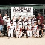 Members of the 11UAAA Mustangs Baseball Team are as follows, from left, bottom row, Alexis Vazquez, Braxton Shelton, Charlie Langford, John Schwenke, Jackson Langford, Coach Pres Salcido. Back row, from left, Coach Mike Swoape, Coach Brad Shelton, Nicholas Beltran,Garrett Padgett, Jacob Ortega, Mateo Salcido, Sammy Swoape, Gus Wirth and Coach Josh Langford. (not pictured was Noah Gettman and Coach Troy Gettman) (Courtesy photo / Fort Morgan Times)