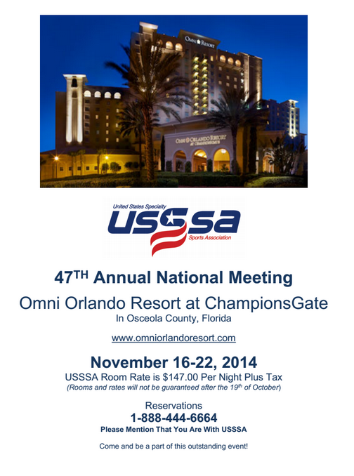 2014 USSSA Convention Information