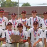 Members and coaches of the state champion Lincoln Cyclones 14U baseball team: (back row, from left), Coach Ruben Martinez, Corbin Harrington, Collin Vrba, Ty Crandon, Cruz Longoria, Garrett Grunder, Jaryd Trumbley and Coach Sonny Wikoff; (front row, from left), Eli Brase ,Trey Utrup, Brandon Doty, Brock Johnson and Chase Stebbing. Courtesy of Neighborhood Extra